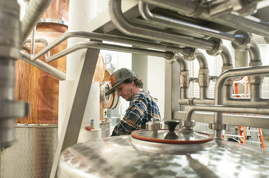 Montgomery Distillery Distilling Jessica Lowry Montana Editorial Photographer