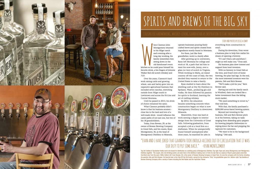 Montana Magazine Jessica Lowry Published A