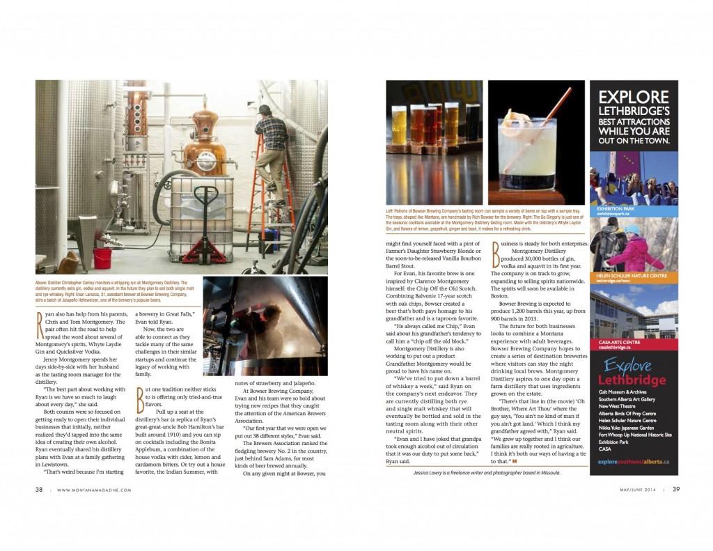 Montana Magazine Jessica Lowry Published